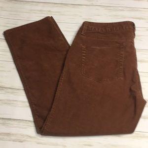 Size 6P Garnett Hill Brown Corduroy Pants